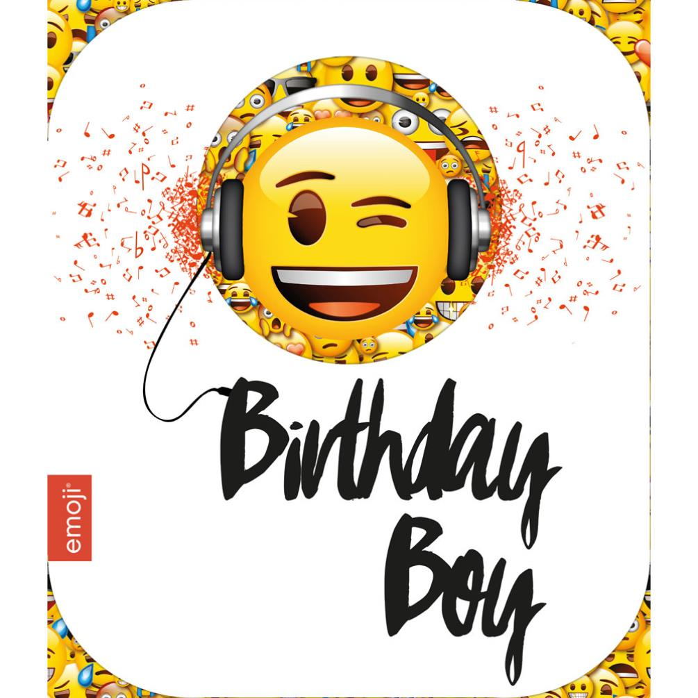 Smiley Birthday Boy Emoji Birthday Card 243901